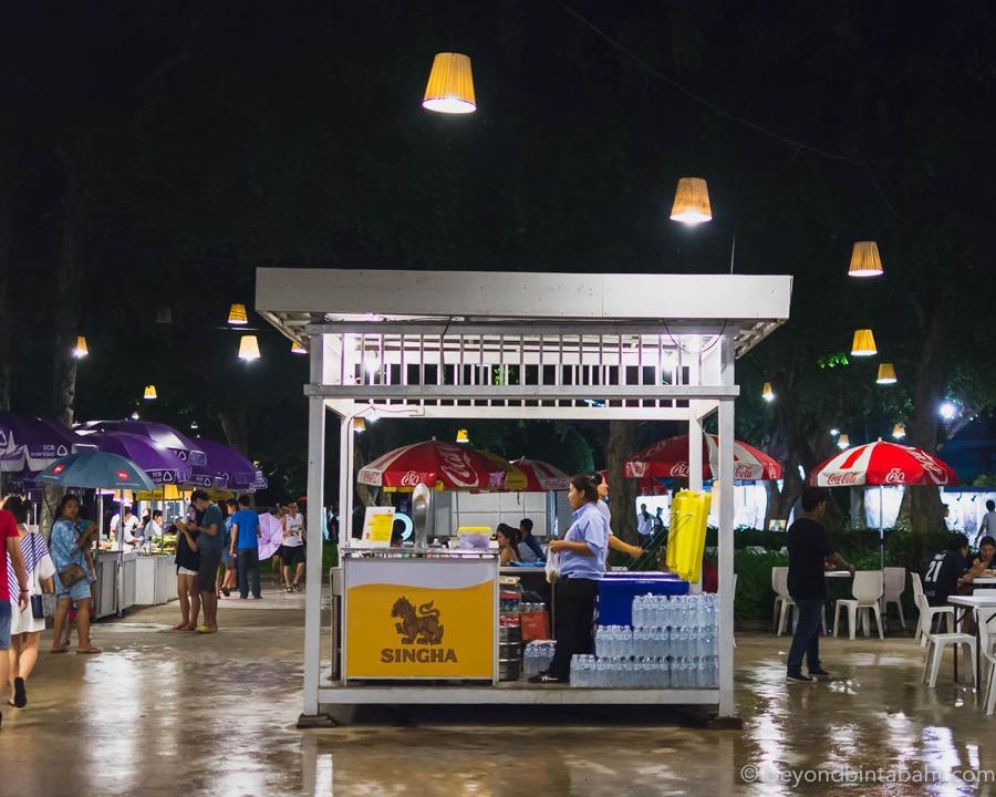 Beverage stall at Cicada Market Hua Hin