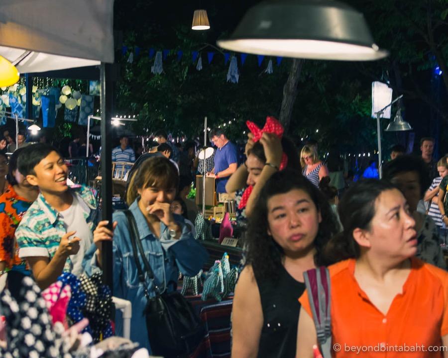 Shoppers at Cicada Market Hua Hin