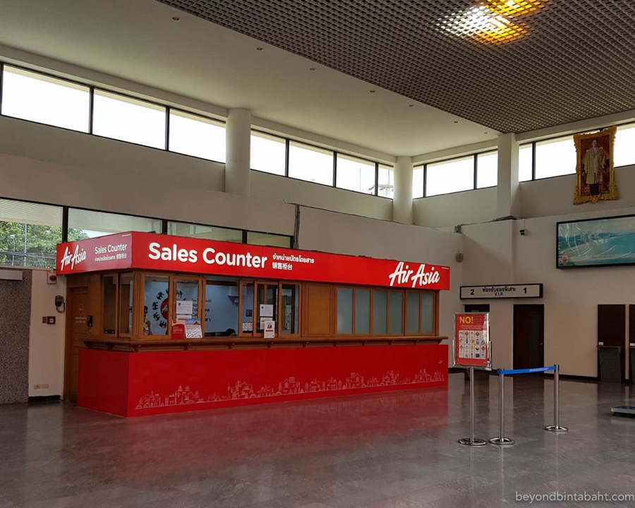 Air Asia ticket sales counter, Hua Hin Airport