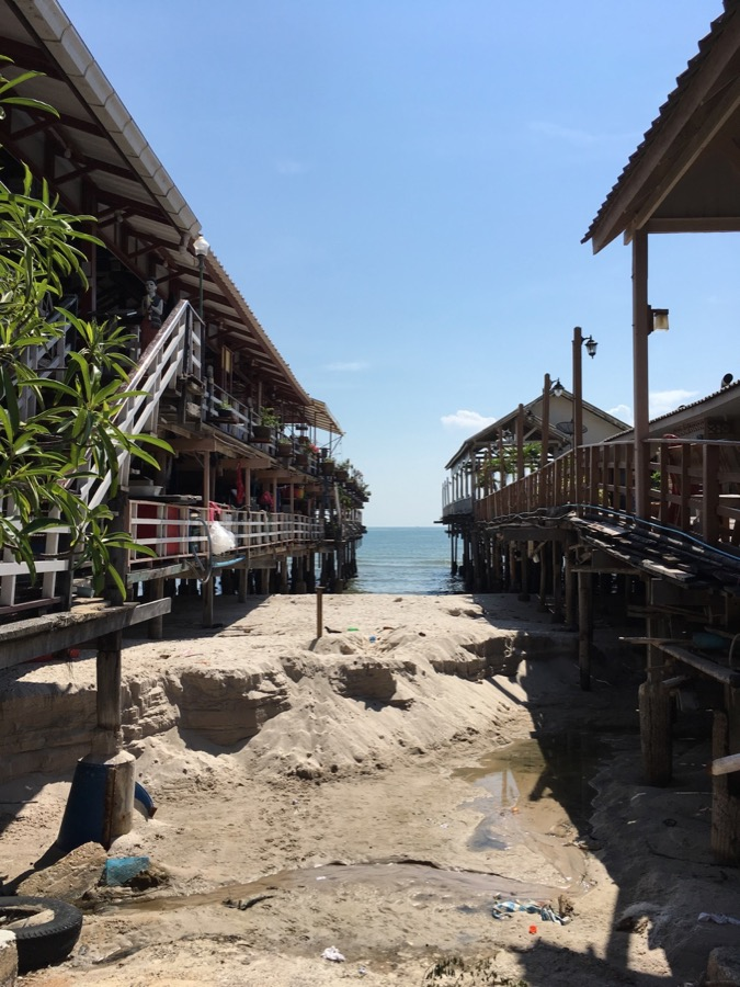 Old piers in Hua Hin, Thailand