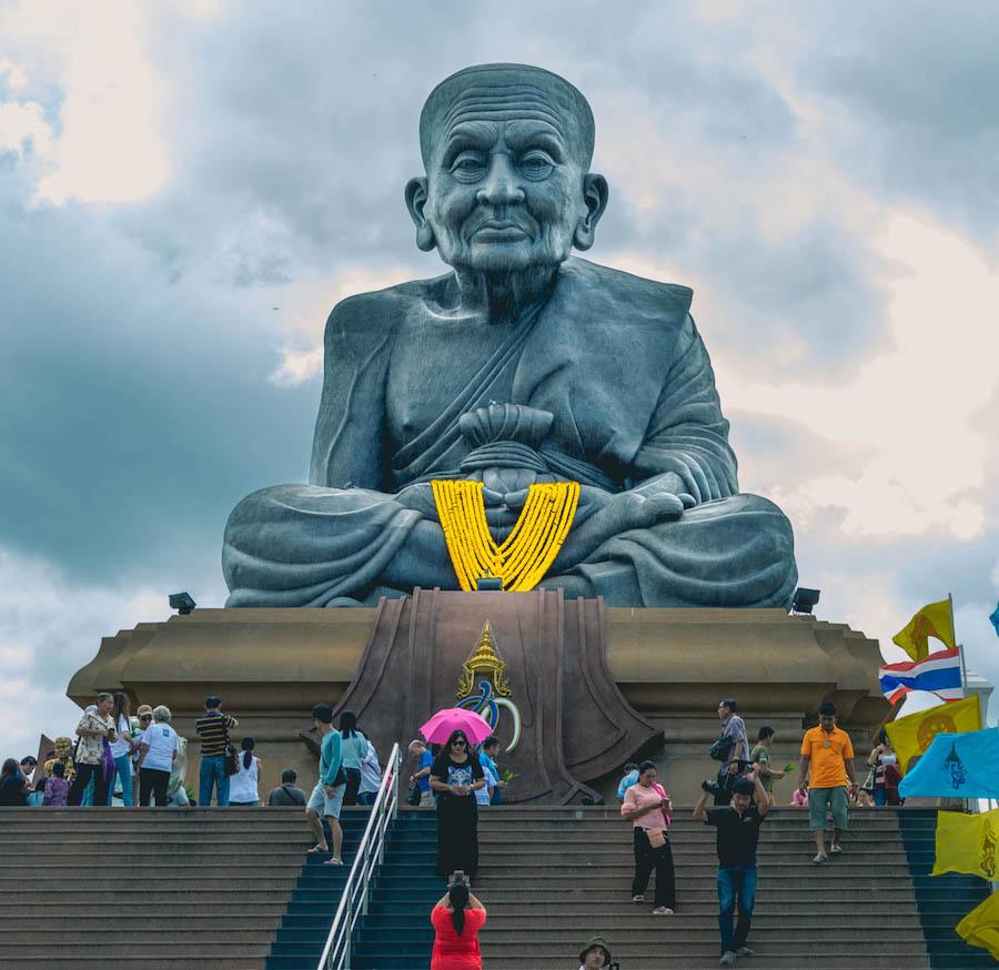 Luang Phu Thuad statue at Wat Huay Mongkol