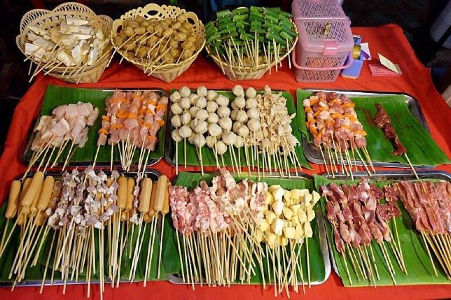 Delicious Thai grilled meats