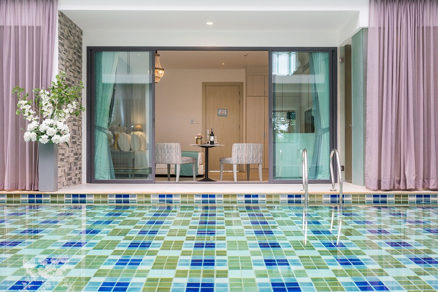 Pool access is a nice touch of luxury.