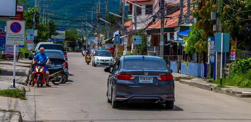 Driving a car in Huahin