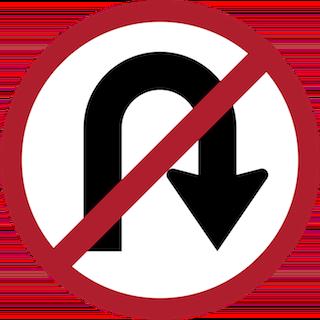 No U-turn is allowed here, so don't make an u-turn