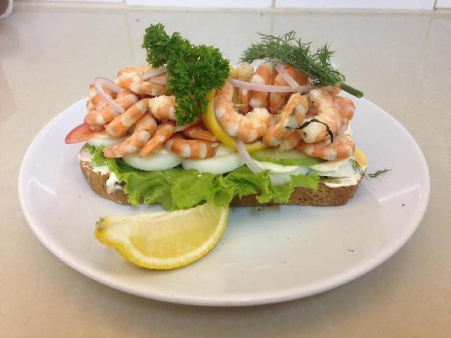 Shrimp sandwich from Tre Kronor, Hua Hin Soi 51